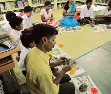 Kabir-and-ecology-workshop-at-Rajghat-Besant-School-Varanasi