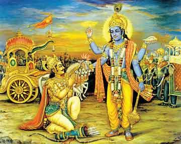New Famous Mahabharat Geeta Gyan Krishn Arjun HD Pictures for free download