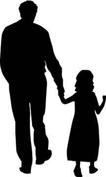 father child silhouette