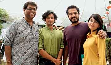 From Left to Right Chintan Girish Modi, Ammar Khalid, Haroon Khalid, Anam Zakaria