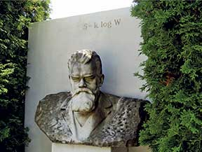 Boltzmann's tomb in Vienna, Austria, with W used instead of N as in our notation. Photograph by Thomas Schneider, 2002. http://alum.mit.edu/www/toms/boltzmann.html