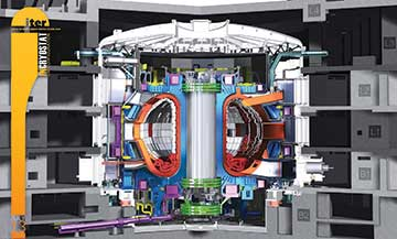 At ITER the world's largest refrigerator being made by India.