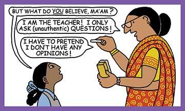 Teacher-pretending
