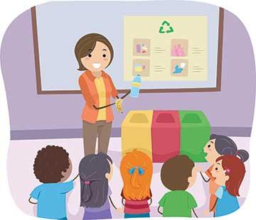 kids-teacher-recycle-class