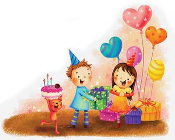 Birthday parties, train journeys and vacations
