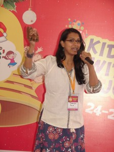 Deepa Kiran inviting people to listen to her story